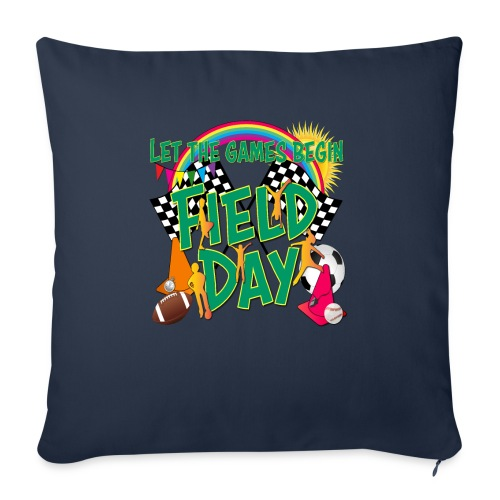 """Field Day Games for SCHOOL - Throw Pillow Cover 18"""" x 18"""""""