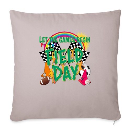 "Field Day Games for SCHOOL - Throw Pillow Cover 18"" x 18"""
