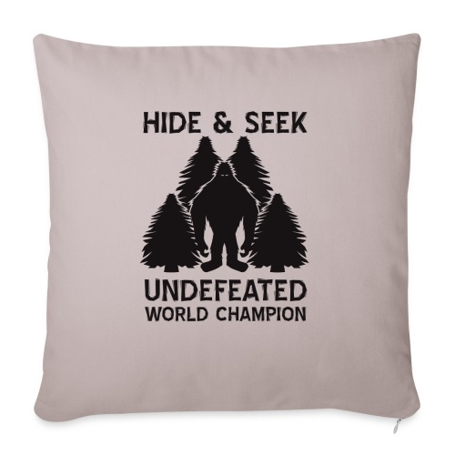 "Hide and Seek Champ! - Throw Pillow Cover 17.5"" x 17.5"""