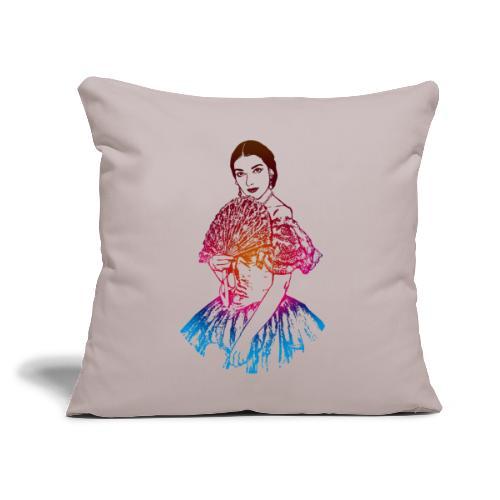 "La traviata: Maria Callas as Violetta Valéry - Throw Pillow Cover 17.5"" x 17.5"""