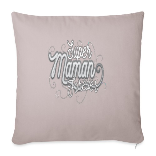 """super maman forever - Throw Pillow Cover 17.5"""" x 17.5"""""""