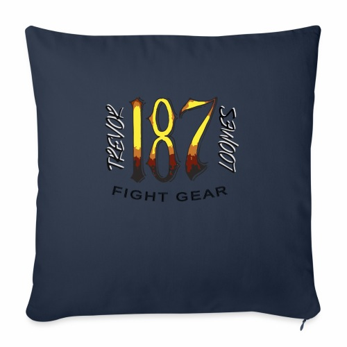 "Coloured Trevor Loomes 187 Fight Gear Logo - Throw Pillow Cover 18"" x 18"""