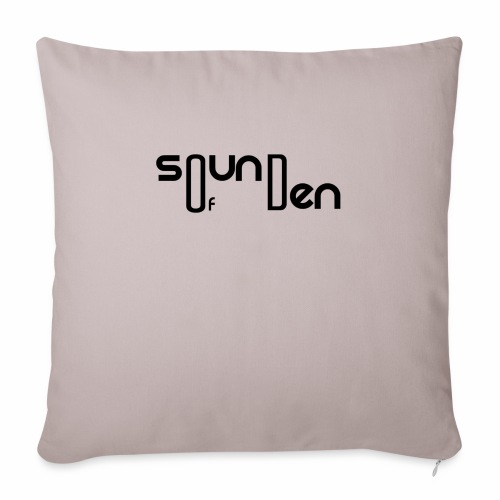 "Soundofden Classical Black Logo - Throw Pillow Cover 17.5"" x 17.5"""