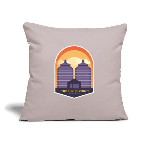 "The Silos in Waco - Throw Pillow Cover 17.5"" x 17.5"""
