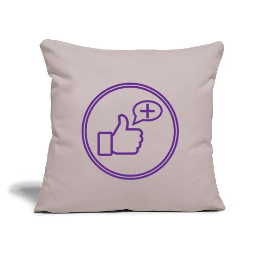 """Stay Positive Icons - Throw Pillow Cover 17.5"""" x 17.5"""""""