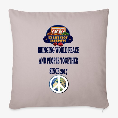 """world peace - Throw Pillow Cover 18"""" x 18"""""""