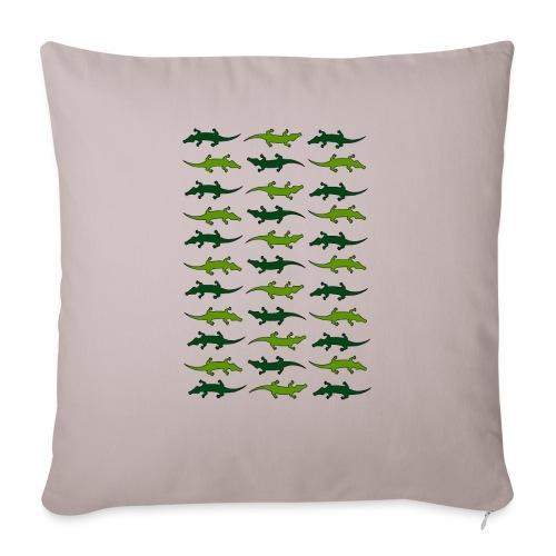 "Crocs and gators - Throw Pillow Cover 17.5"" x 17.5"""