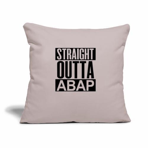 "StraightOuttaABAP - Throw Pillow Cover 18"" x 18"""