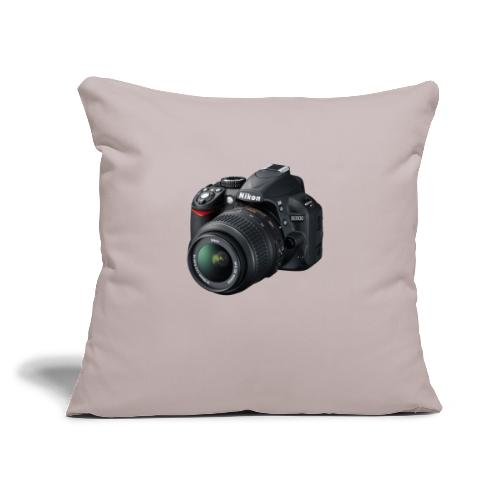 "photographer - Throw Pillow Cover 17.5"" x 17.5"""