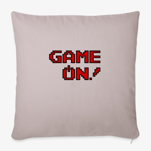 "Game On.png - Throw Pillow Cover 17.5"" x 17.5"""