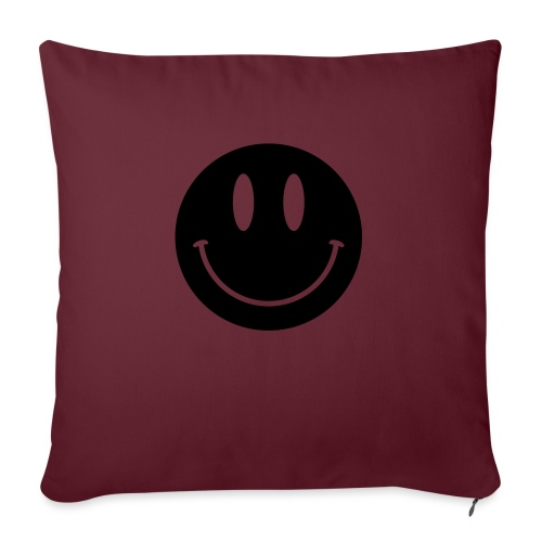 "Smiley - Throw Pillow Cover 18"" x 18"""