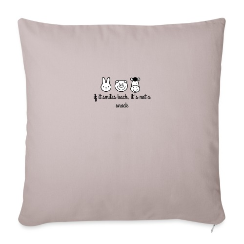 "SMILE BACK - Throw Pillow Cover 18"" x 18"""