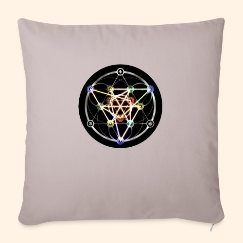 """Classic Alchemical Cycle - Throw Pillow Cover 17.5"""" x 17.5"""""""
