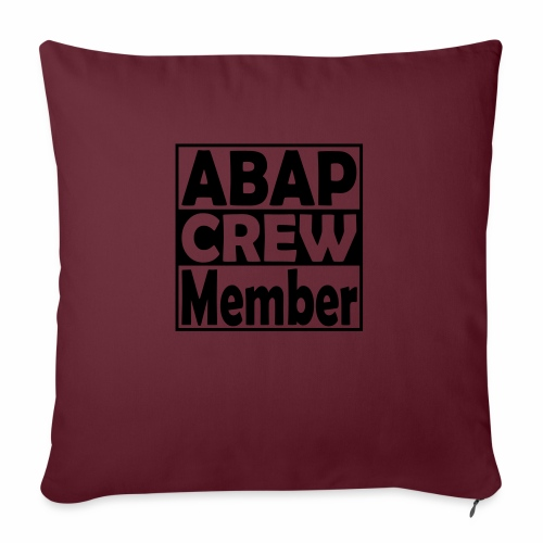 "ABAPcrew - Throw Pillow Cover 17.5"" x 17.5"""
