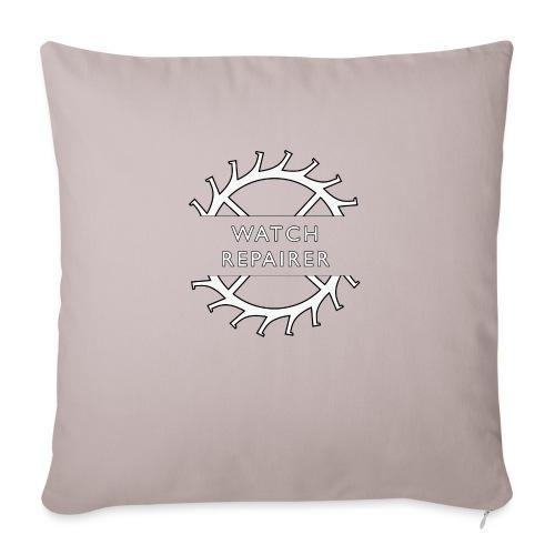 """Watch Repairer Emblem - Throw Pillow Cover 17.5"""" x 17.5"""""""
