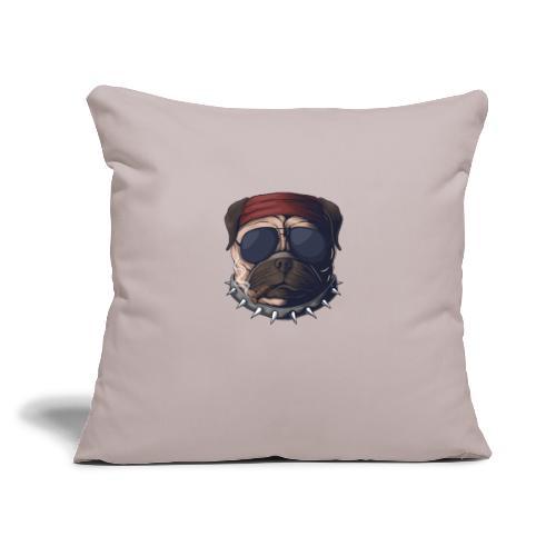 "Dog head smoke - Throw Pillow Cover 17.5"" x 17.5"""
