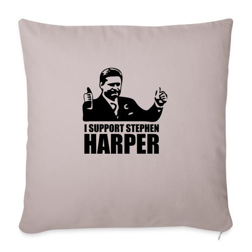 """I Support Stephen Harper - Throw Pillow Cover 17.5"""" x 17.5"""""""