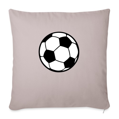 "Custom soccerball 2 color - Throw Pillow Cover 17.5"" x 17.5"""