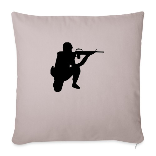 """Infantry at ready for action. - Throw Pillow Cover 17.5"""" x 17.5"""""""