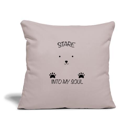 """Polar Bear Stare - Throw Pillow Cover 18"""" x 18"""""""