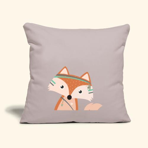 "Felix Fox - Throw Pillow Cover 18"" x 18"""