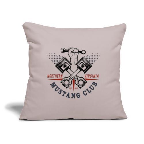 "Crazy Pistons - Throw Pillow Cover 17.5"" x 17.5"""