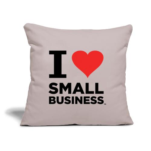 """I Heart Small Business (Black & Red) - Throw Pillow Cover 17.5"""" x 17.5"""""""