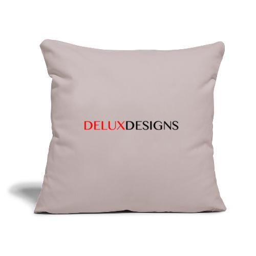 "Delux Designs (black) - Throw Pillow Cover 17.5"" x 17.5"""