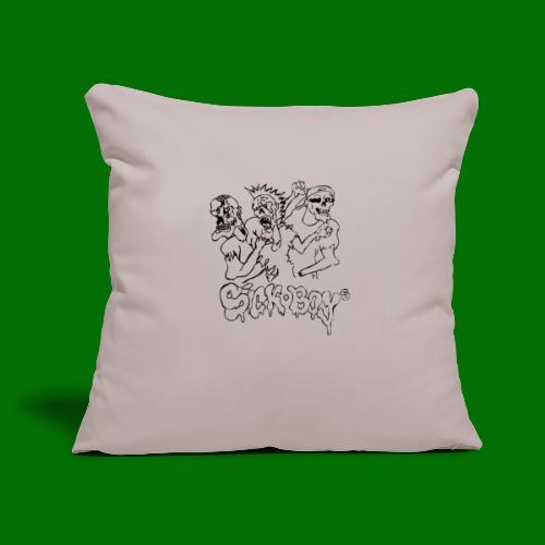 "SickBoys Zombie - Throw Pillow Cover 17.5"" x 17.5"""