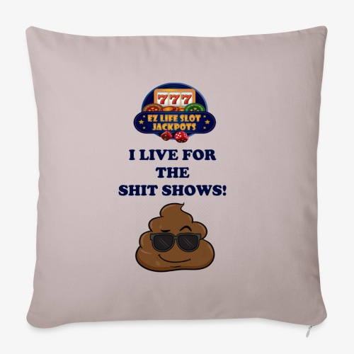 """poop show - Throw Pillow Cover 18"""" x 18"""""""