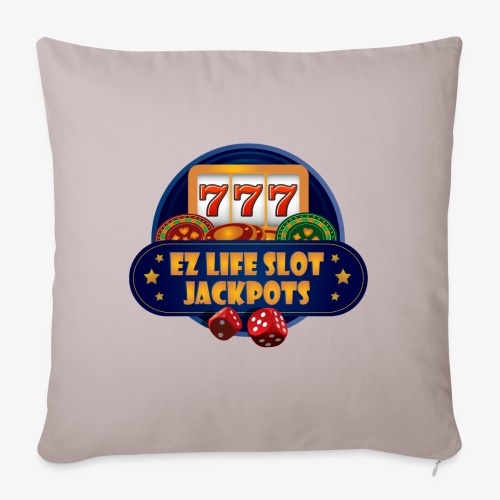 "EZ Life Logo - Throw Pillow Cover 18"" x 18"""