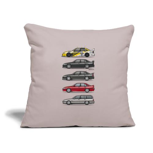 """Stack of Opel Omegas / Vauxhall Carlton A - Throw Pillow Cover 17.5"""" x 17.5"""""""