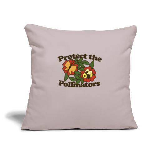 """Protect the pollinators - Throw Pillow Cover 18"""" x 18"""""""