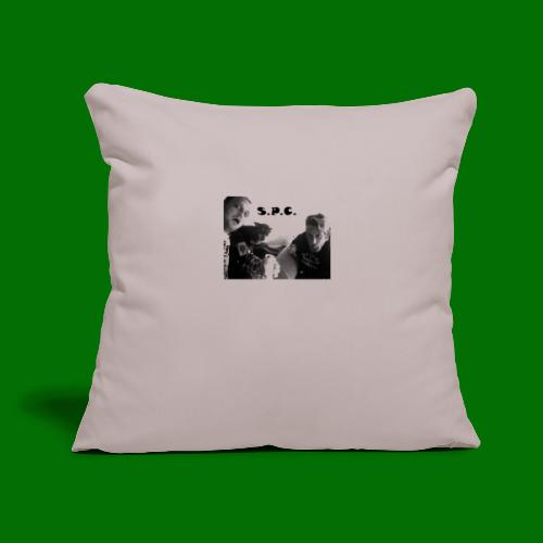 "D N BW 2 - Throw Pillow Cover 17.5"" x 17.5"""