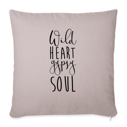 "Cosmos 'Wild Heart Gypsy Sould' - Throw Pillow Cover 18"" x 18"""