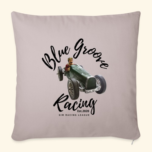 """Blue Groove Racing Est 2020 - Throw Pillow Cover 17.5"""" x 17.5"""""""