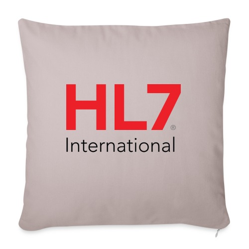 "HL7 International - Throw Pillow Cover 17.5"" x 17.5"""