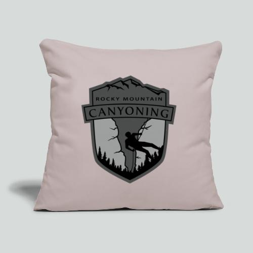 "ROCKY MOUNTAIN CANYONING-on light back-2side-2logo - Throw Pillow Cover 17.5"" x 17.5"""