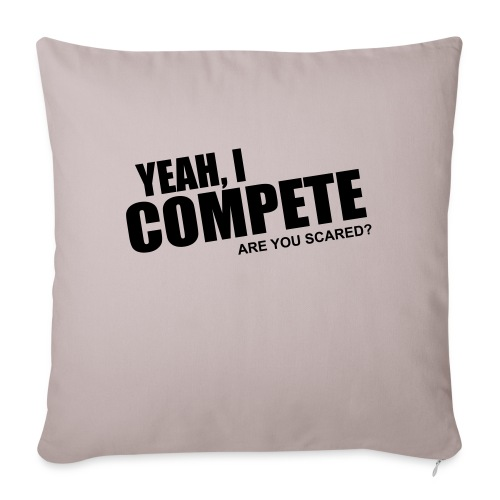 """compete - Throw Pillow Cover 17.5"""" x 17.5"""""""