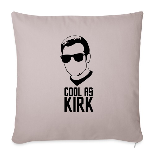 """Cool As Kirk - Throw Pillow Cover 17.5"""" x 17.5"""""""