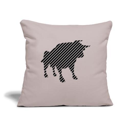 "bulgebull_animal - Throw Pillow Cover 17.5"" x 17.5"""
