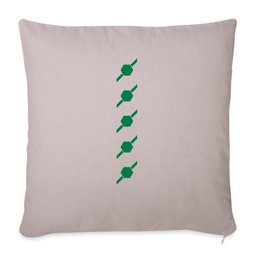 "fivehex vector - Throw Pillow Cover 17.5"" x 17.5"""