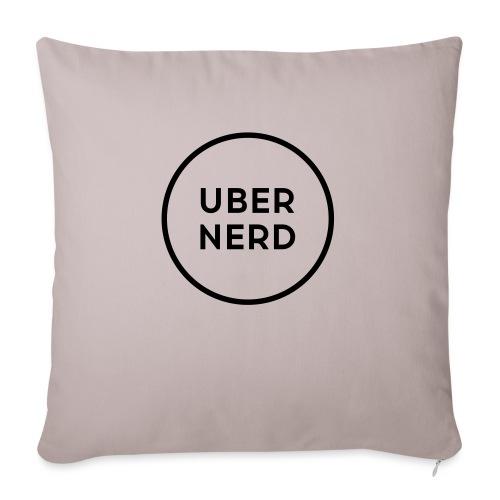 "uber nerd logo - Throw Pillow Cover 18"" x 18"""