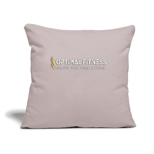 "white logo, keep calm and hiit it white - Throw Pillow Cover 18"" x 18"""