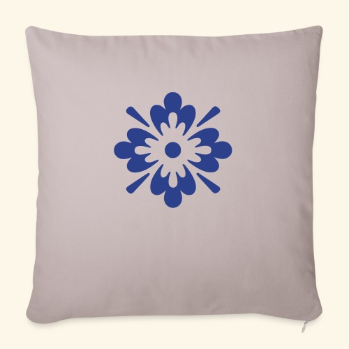 "floral art1 - Throw Pillow Cover 17.5"" x 17.5"""