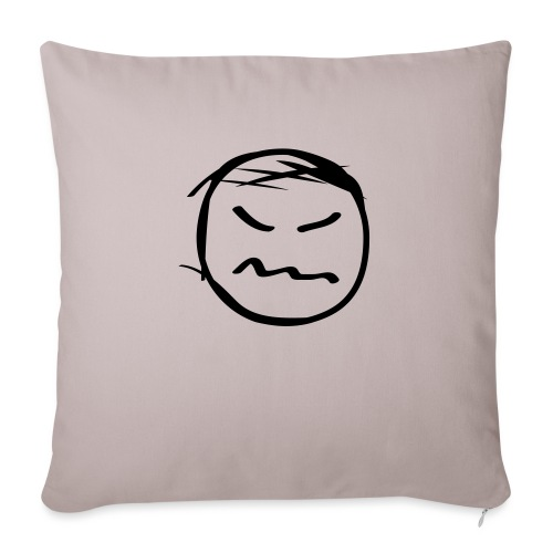 """kicky head solo - Throw Pillow Cover 17.5"""" x 17.5"""""""