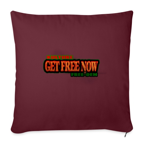 """The Get Free Now Line - Throw Pillow Cover 17.5"""" x 17.5"""""""