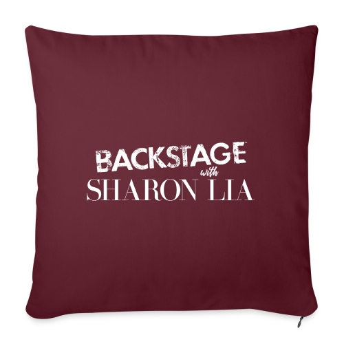 "Backstage With Sharon Lia - White - Throw Pillow Cover 17.5"" x 17.5"""