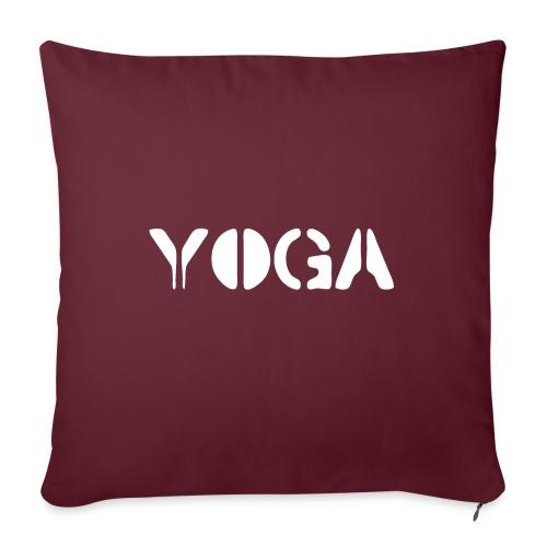 """YOGA white - Throw Pillow Cover 17.5"""" x 17.5"""""""