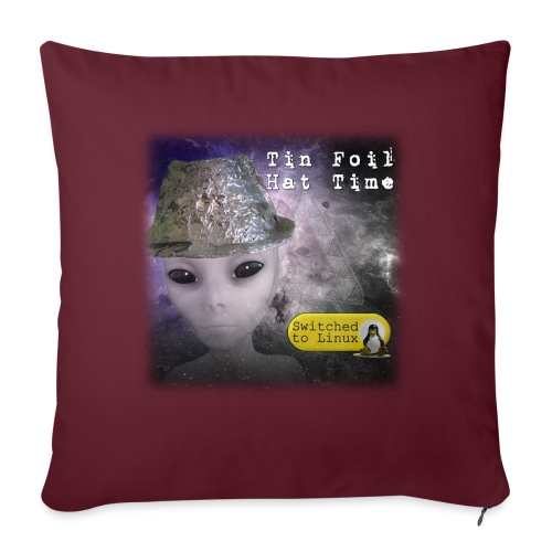 "Tin Foil Hat Time (Space) - Throw Pillow Cover 17.5"" x 17.5"""